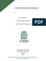 IDENTIFICACIÓN DEL DISEÑO METODOLÓGICO DE LOS ARTÍCULOS DE COSSIO Y HERNÁNDEZ (2016) Y GONZÁLEZ, PINEDA Y GAXIOLA (2018)..docx