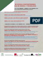 Cartel del 19 Ciclo de Música Contemporánea de Málaga