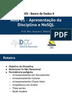 Aula01-DCC603 - Apresentação e Introdução NoSQL