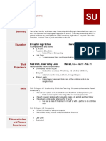 copy of resume template 2015