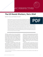 The US Needs Workers Not a Wall