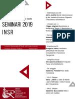 Seminari INSR 2019