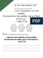 Bible Verse Practice John 13:34