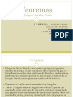 Teoremas (Pitagoras, Thales y Euclides)