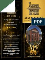 Brochure of Avenel Performing Arts Center's inaugural season
