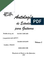 Antología de Estudios Para Guitarra Vol 4
