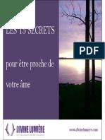 15 Secrets Proche Votre Ame