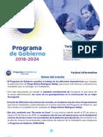 Programa de Gobierno Diego Sinhue Rodríguez Vallejo