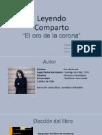Leyendo Comparto Rodrigo Morales El Oro de La Corona