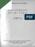 Tagore Rabindranath - Recuerdos De Mi Vida.pdf