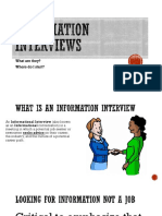 Information ?interviews
