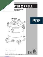 Manual Aspiradora Porter Cable de 12 Galones