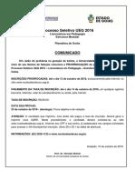 Comunicado Prorrogacao PS Pedagogia-Planaltina-2