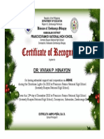 Certificate Judge