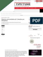 Las mejores universidades de Colombia |