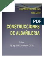 SESION N° 02 - CONSTRUCCIONES DE ALBAÑILERIA