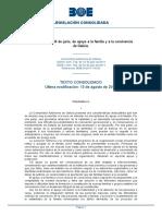 Ley 3/2011 Apoyo a La Familia y a La Convivencia de Galicia