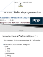 introduction à la programmationC