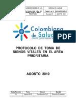 Protocolo de Control de Signos Vitales Area Prioritaria