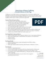Indicators of Human Trafficking