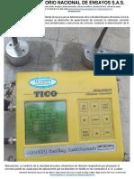 Servicion Determinacion de Fisuras y Velocidad de Propagacion de Onda Ultrasonica