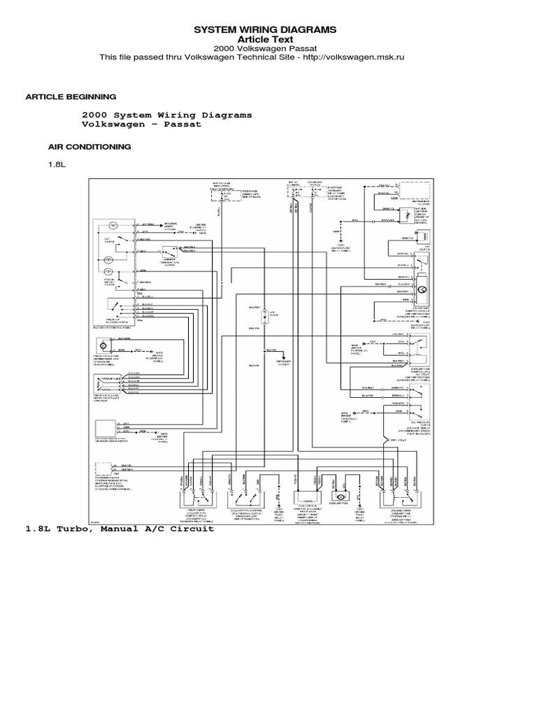 2000 Vw Passat Wiring Diagram Wiring Diagram Log Tan Super A Tan Super A Superpolobio It
