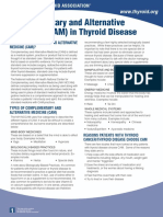 Complementary and Alternative Medicine (CAM) in Thyroid Disease