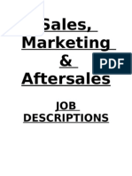 Sales Marketing & After Sales New