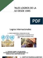 PRINCIPALES LOGROS DE LA FAO DESDE 1945.pptx