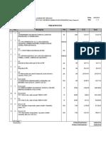 Presupuesto modelo de voz y datos