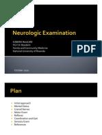 Neurologic Examination-KABERA Rene