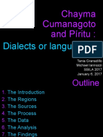 Chayma Cumanagoto and Piritu Dialects Or
