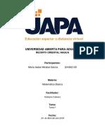 Presentacion - Matematica Basica - Maria Isabel Mirabal Garcia