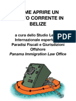 Conto in Banca Belize