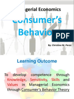 Report on Consumer's Behavior Theory