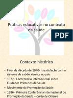 Práticas Educativas No Contexto Da Saúde