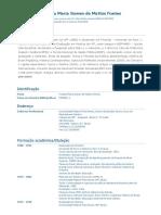 Currículo Do Sistema de Currículos Lattes (Virginia Maria Gomes de Mattos Fontes)