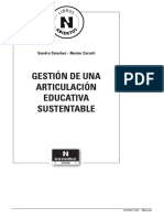 Gestion de Una Articulacion Educativa Sustentable Fragmento