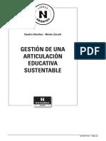 Gestion de Una Articulacion Educativa Sustentable Fragmento