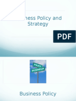 Concepts in Strategic Management Business Policy