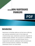 Building Maintenance Problems