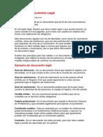 Ejemplo de Documento Legal