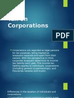 Tax on Corporations