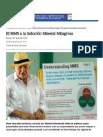 El MMS o La Solución Mineral Milagrosa — DSalud