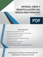 APOGEO, CRISIS Y REARTICULACIÓN DEL SIDICALISMO PERUANO.pptx