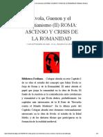 Evola, Guenon y el Cristianismo (II) RO... DE LA ROMANIDAD | Biblioteca Evoliana