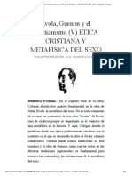 Evola, Guenon y el Cristianismo (V) ETI...AFISICA DEL SEXO | Biblioteca Evoliana