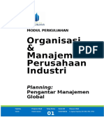 Modul 01 Planning, Pengantar Manajemen Global