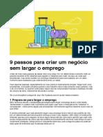 9 Passos Para Criar Um Negócio Sem Largar o Emprego