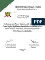 Certificado Comunicacao - Gabriel Chati